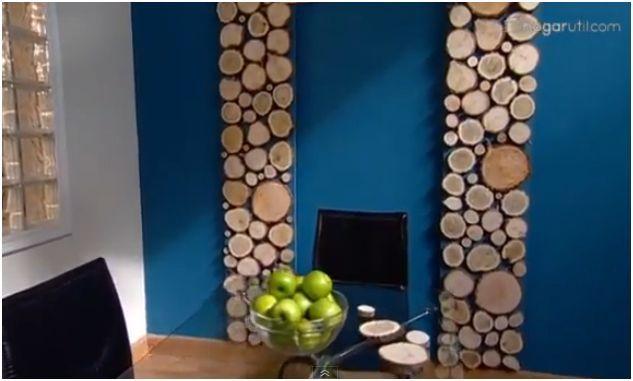 troncos pared