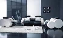Sillones blanco y negro, proyecto casa