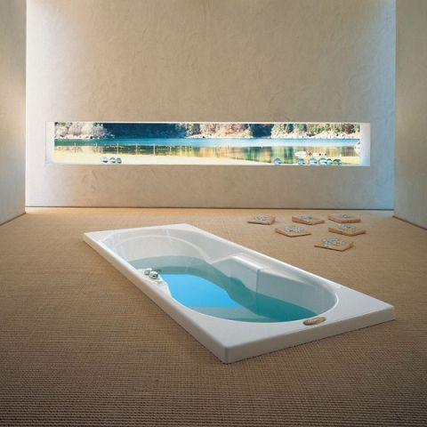bañera en el suelo