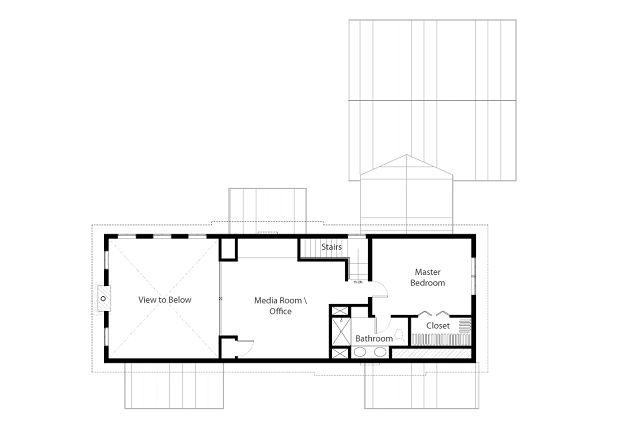 Casa para un retiro rustico for Planos de oficinas pequenas