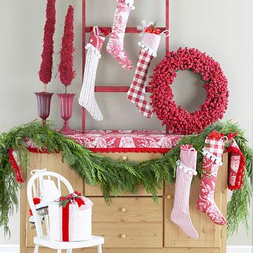 Idea para decorar paredes en Navidad 2