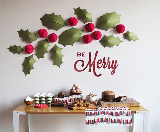 Idea para decorar paredes en Navidad