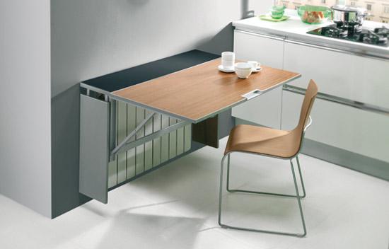 Mesas plegables para la cocina