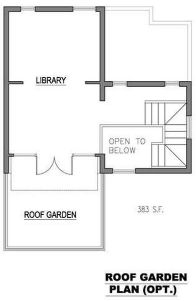 Plano de casa de 3 niveles 4