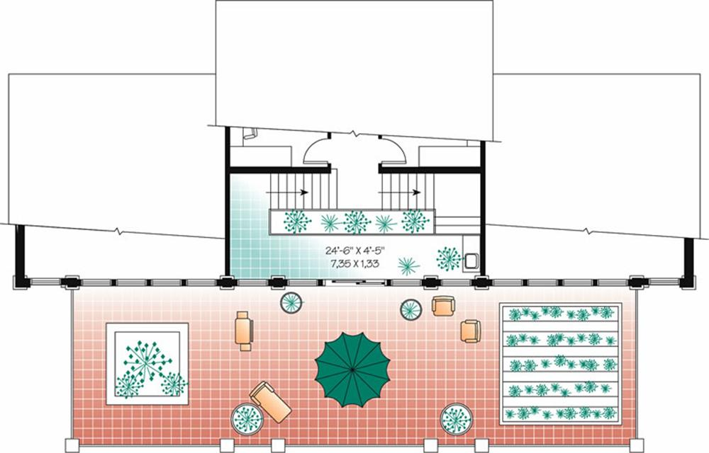 Plano de casa de playa grande 3