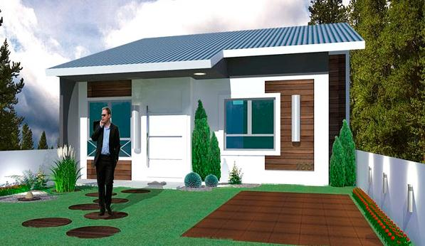 Plano de casa familiar 50 m2