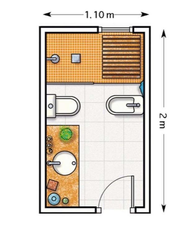 Planos para cuartos de baño pequeños 2