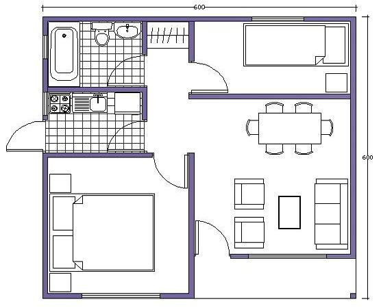 Planos modernos de living chico for Modelos sillones para living modernos