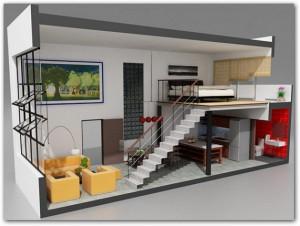 Planos modernos de living de apartamento