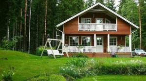 casa hecha de madera