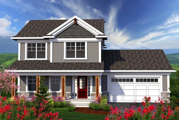 Planos arquitect nicos de casas y apartamentos - Casas americanas con porche ...