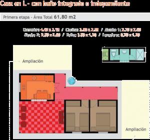 Planos de casas en L