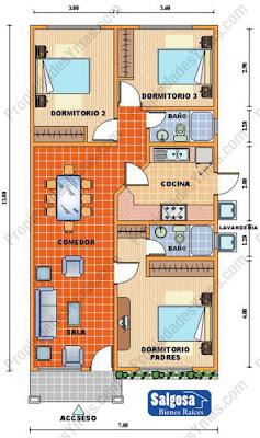Planos de casas y viviendas para construir gratis for Planos de casas para construir de una planta