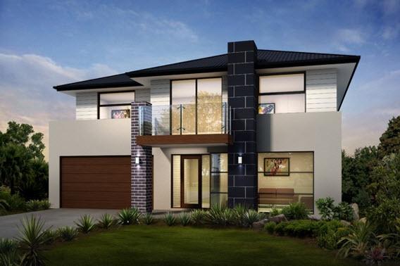 Planos de casas de 2 pisos for Fachadas de casas de 2 pisos con balcon
