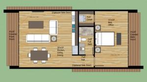 plano de casa de 1 piso