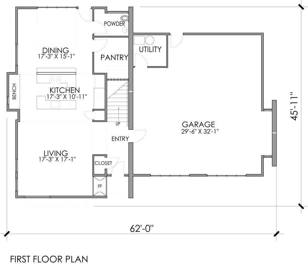 Planos y fachadas de casas de 3 dormitorios Planos de casas de 3 dormitorios
