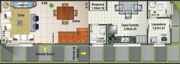 Planos de casas de 3 dormitorios y dos niveles for Diseno de apartamento en segunda planta