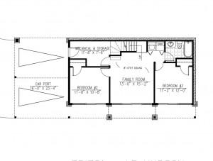 plano de casa moderna de dos plantas