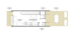 plano de casa pequeña de dos plantas