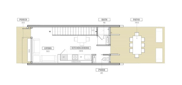 Planos de casas peque as de dos plantas for Planos de casas 6x20