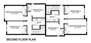 plano para casa de dos pisos
