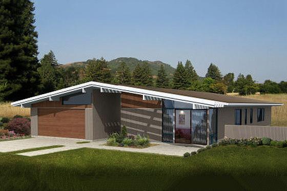 Planos de casas modernas de un piso for Casas modernas fachadas de un piso