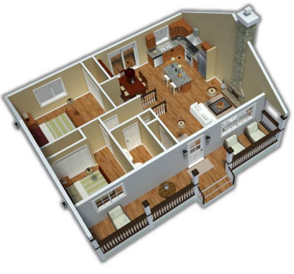 Planos de casas en 3d - Planos de casa en 3d ...
