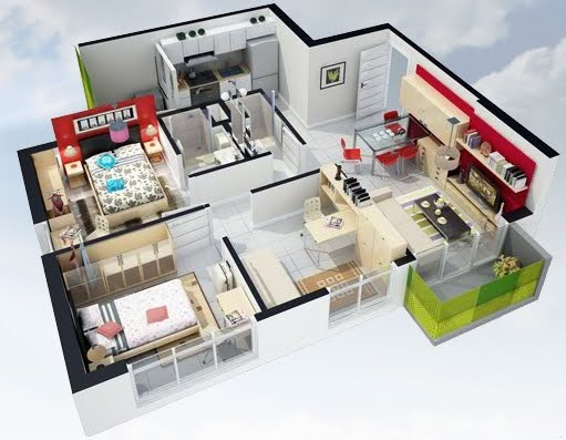 Dise ar un plano de una casa for Como disenar una habitacion en 3d