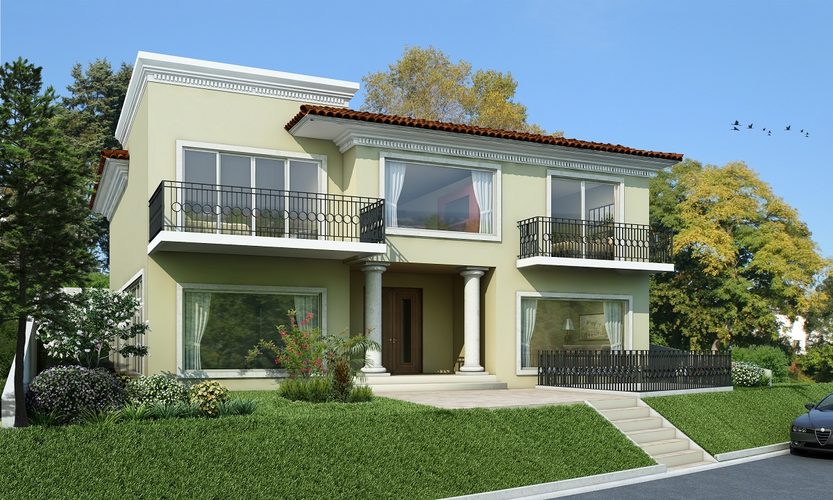 Fachadas para casas gratis Pisos para exteriores de casas modernas