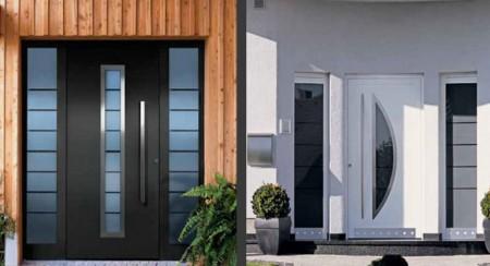 Fotos de puertas de aluminio.
