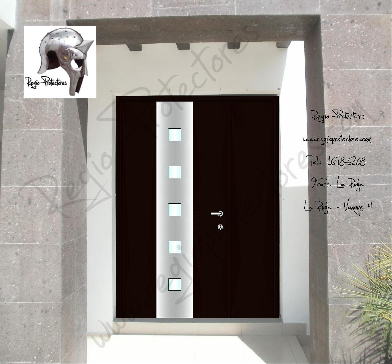 Fotos de puertas principales for Puertas principales rusticas madera