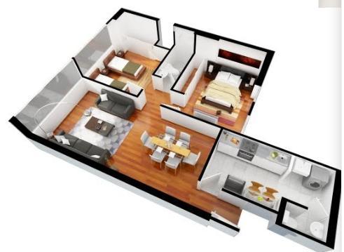 Planos para casas de 120m2 for Planos de casas pequenas en 3d