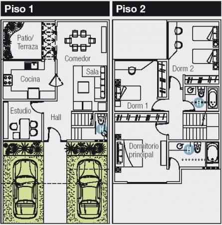 Planos para casas de 120m2.