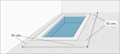 Planos para construir una piscina for Medidas de una piscina para una casa