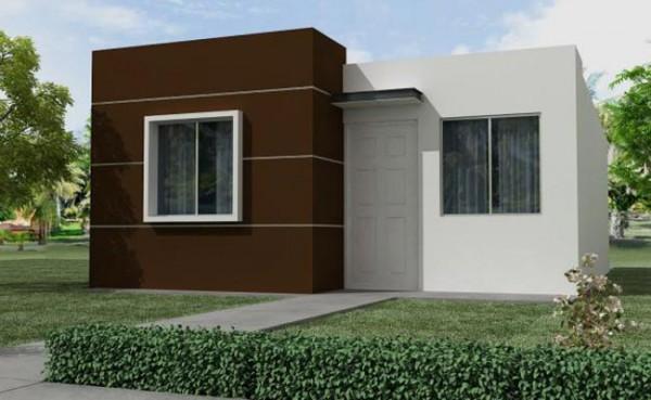 Fachada de Casa Pequeña Moderna, planos