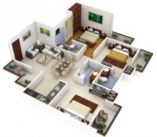 Planos de casa de un piso gratis