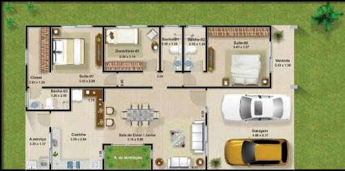 Planos de casa de un piso para descargar