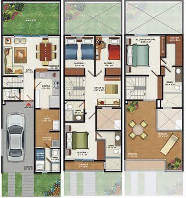 Planos de casa de un piso.