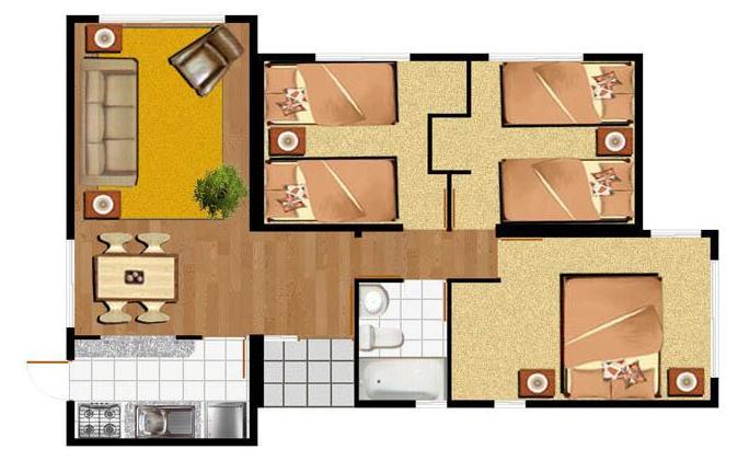 Planos de casa peque as Planos de casas por dentro