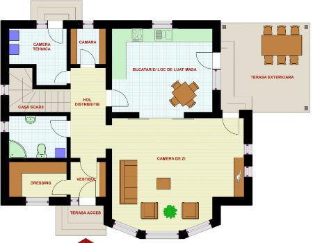 Planos arquitectónicos de casas de dos plantas gratis