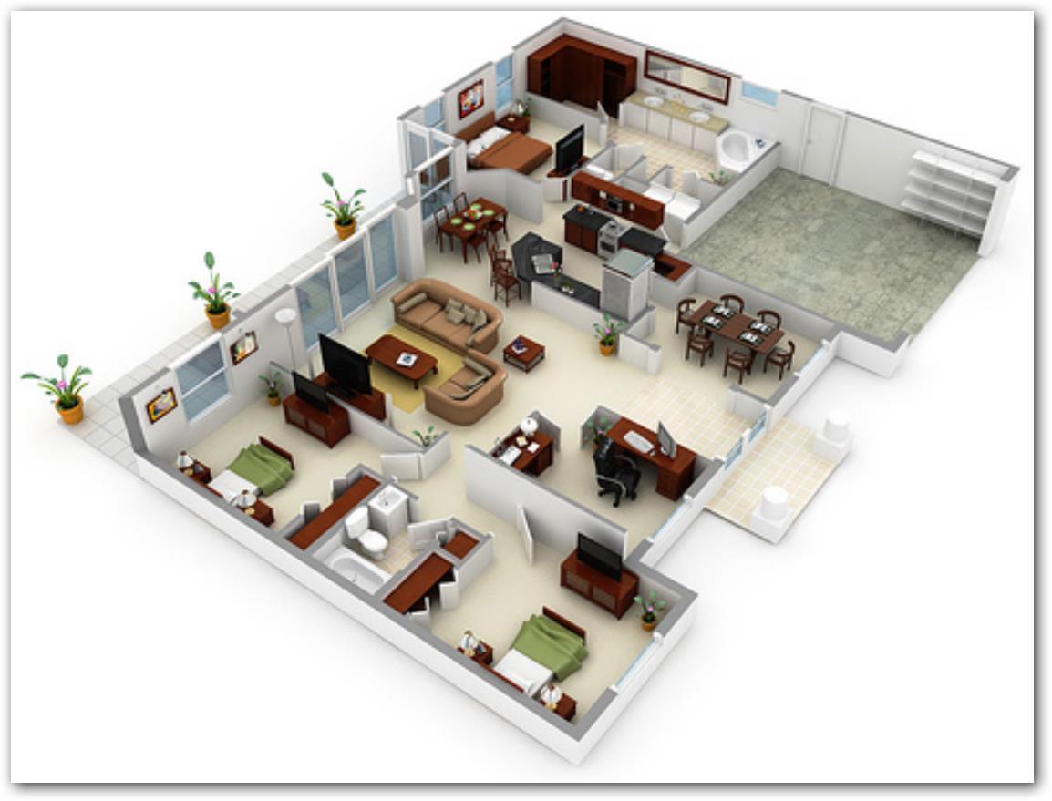 Planos de casas modernas para ver for Disegnare interni