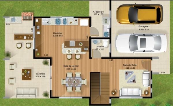Planos de casas modernas para ver for Casa moderna 6x6
