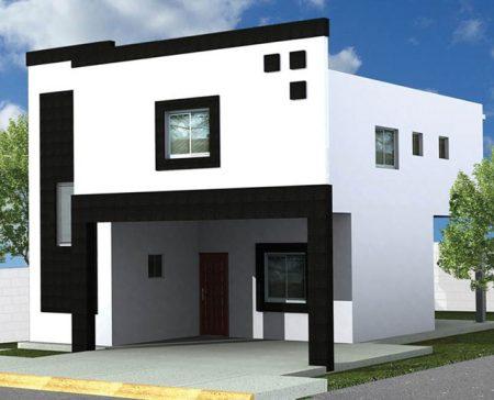 Imagenes de fachadas de casas de dos pisos modernas online