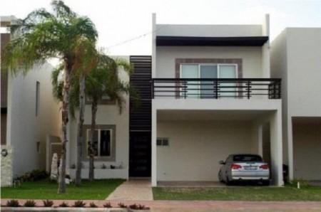 Fachadas de casas de dos pisos (2)