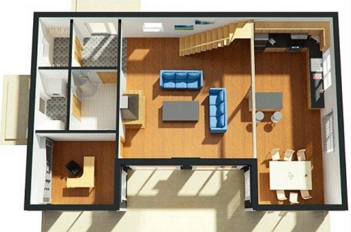 Planos de casas modernas for Planos de oficinas pequenas modernas